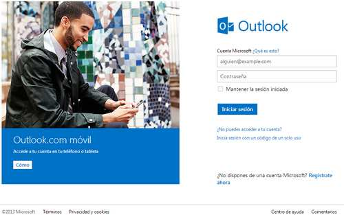 Pagina oficial de hotmail o outlook